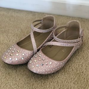 Other - Girls Light Pink Flats with rhinestones